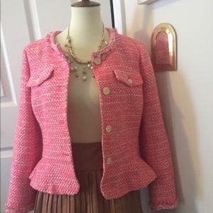 J. Crew Knit Peplum Jacket